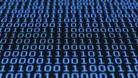 Cifre binarie casuali, schermo LCD stock footage