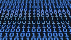 Cifre binarie casuali, schermo LCD commovente archivi video