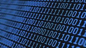 Cifre binarie casuali, sul macro LCD video d archivio