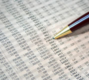 Cifre contabili Fotografie Stock Libere da Diritti
