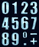 Cifre del ghiaccio Fotografie Stock Libere da Diritti