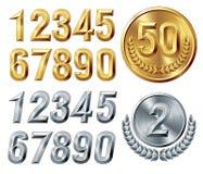 Cifre del metallo illustrazione di stock