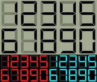 Cifre dell'orologio di tavola e del calcolatore Fotografia Stock Libera da Diritti