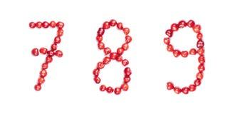Cifre della ciliegia isolate immagine stock