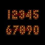 Cifre della lampadina Fotografia Stock