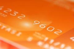Cifre di carta di credito Fotografia Stock