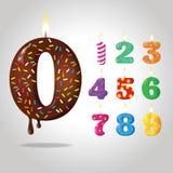 Cifre di compleanno della caramella di colore illustrazione vettoriale