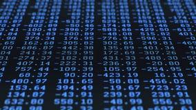 Cifre di dati casuali, schermo LCD archivi video