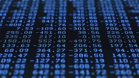 Cifre di dati casuali, schermo LCD commovente video d archivio