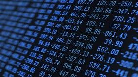 Cifre di dati casuali, sul LCD di Maco stock footage