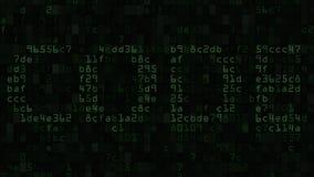 CIFRE el subtítulo en la pantalla de ordenador hecha del texto y de los símbolos numéricos stock de ilustración
