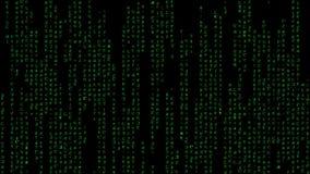 Cifre el virus verde de los dígitos de la matriz libre illustration