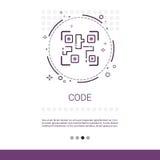 Cifre la bandera de la tecnología del dispositivo de programación de equipo de desarrollo del software con el espacio de la copia stock de ilustración