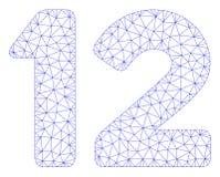 12 cifre mandano un sms al vettore poligonale Mesh Illustration della struttura royalty illustrazione gratis
