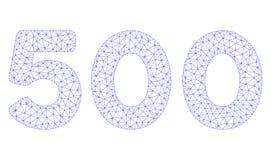 500 cifre mandano un sms al vettore poligonale Mesh Illustration della struttura illustrazione vettoriale