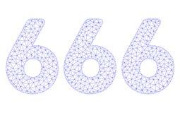666 cifre mandano un sms al vettore poligonale Mesh Illustration della struttura royalty illustrazione gratis