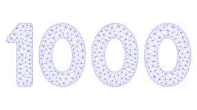1000 cifre mandano un sms al vettore poligonale Mesh Illustration della struttura royalty illustrazione gratis