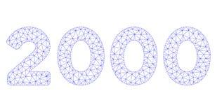 2000 cifre mandano un sms al vettore poligonale Mesh Illustration della struttura illustrazione di stock