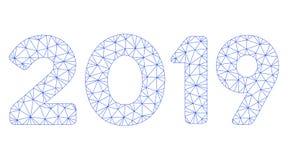 2019 cifre mandano un sms al vettore poligonale Mesh Illustration della struttura royalty illustrazione gratis
