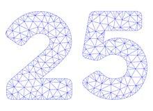 25 cifre mandano un sms al vettore poligonale Mesh Illustration della struttura illustrazione di stock