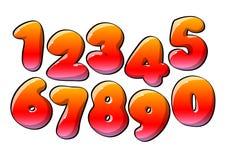 Cifre numeriche rosse illustrazione di stock