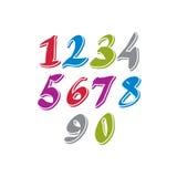 Cifre scritte a mano contemporanee di vettore royalty illustrazione gratis
