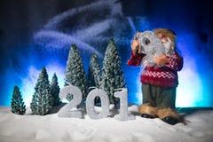 2019 cifre sulla neve Un nuovo concetto felice di 2019 anni Spazio vuoto per il vostro testo immagini stock libere da diritti