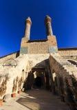Cifte尖塔马德拉斯-双重尖塔在锡瓦斯 库存照片