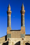 Cifteminaret Madrasa - Dubbele Minaret in Sivas royalty-vrije stock afbeelding