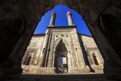 Cifteminaret Madrasa - Dubbele Minaret in Sivas stock fotografie