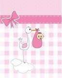 Cigüeña con el bebé recién nacido Imagen de archivo libre de regalías