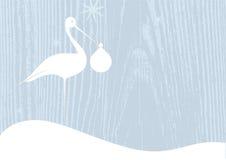 Cigüeña con el manojo Imagen de archivo