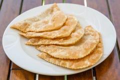 Cig Borek, Turkish Meat Pie. Cig borek or Tatar pie, Turkish meat pie fried in oil royalty free stock images