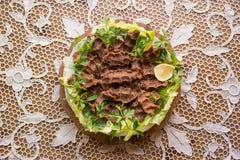 Cig kofte/τουρκικά τρόφιμα Στοκ Εικόνες