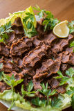 Cig kofte/τουρκικά τρόφιμα Στοκ φωτογραφία με δικαίωμα ελεύθερης χρήσης