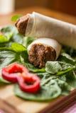 Cig kofte durum, Shawarma, Turecki jedzenie/ Obraz Royalty Free