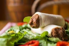 Cig kofte durum, Shawarma, Turecki jedzenie/ Fotografia Stock