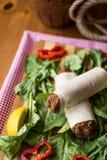 Cig kofte durum, Shawarma, Turecki jedzenie/ Zdjęcia Royalty Free