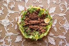 Cig kofte/türkisches Lebensmittel stockbilder