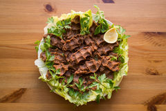 Cig kofte/türkisches Lebensmittel lizenzfreie stockfotografie