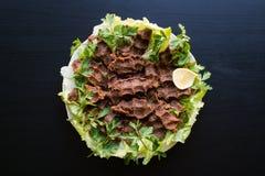 Cig kofte/türkisches Lebensmittel lizenzfreies stockfoto