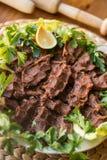 Cig kofte / Turkish food. Royalty Free Stock Photos