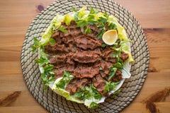 Cig kofte / Turkish food. Stock Photography