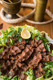 Cig kofte / Turkish food. Stock Photo