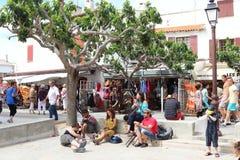 Ciganos e turistas, Saintes Maries de la Mer, França Foto de Stock Royalty Free