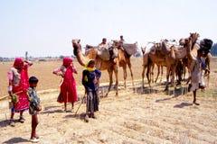 Ciganos em Jaisalmer, Índia Foto de Stock Royalty Free