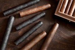 Cigar. A few cigars on a dark background Royalty Free Stock Photos