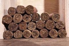 Cigar. S stacked on each other Stock Photos