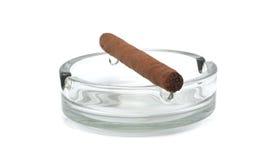 Cigar in an ashtray Royalty Free Stock Photo