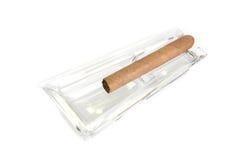 Cigar at ashtray Royalty Free Stock Image